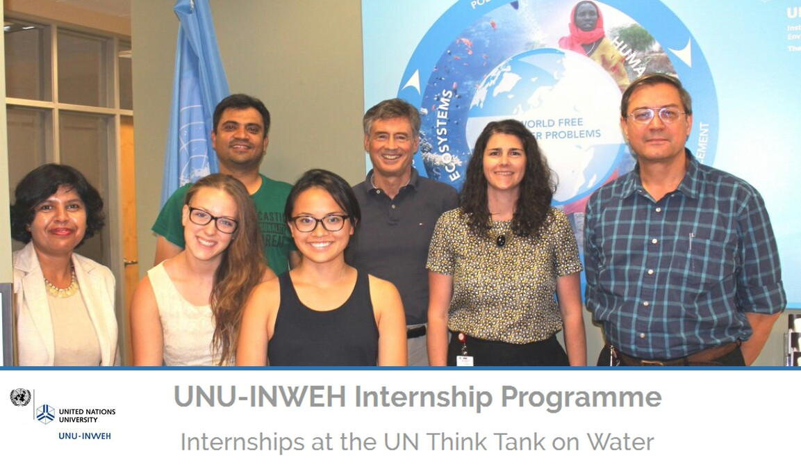 UNU-INWEH Internship Recruitment 2017/2018 is on - Application Guide and Requirements
