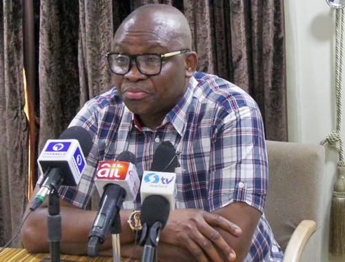 Fayose: I'm not running as Atiku's Vice
