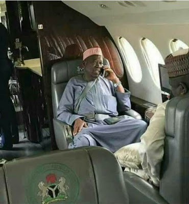 Kano State Government Reacts To Viral Photo Of State Governor's Wrong Use Of Private Jet Seatbelt