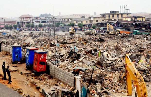 Lagos begins demolition of illegal structures in Obalende