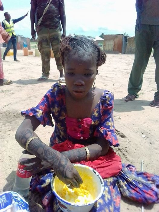 Very Young Female Suicide Bomber Caught by Security Operatives in Borno-See Photos