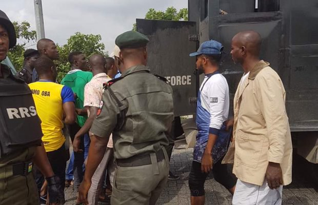 Police, OPC arrest over 100 People at Badoo hideouts in Ikorodu - Photos