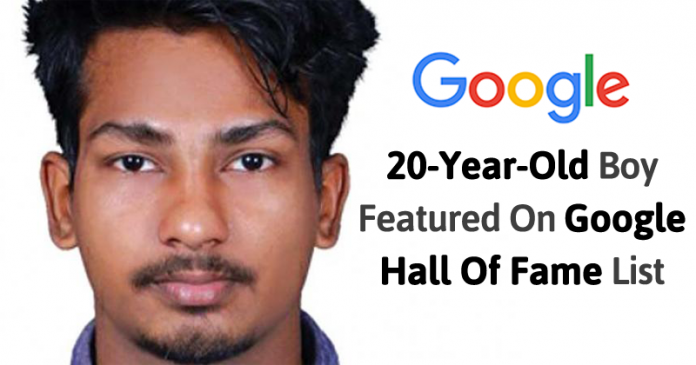 See 20-Year-Old Boy Featured on Google Hall Of Fame List