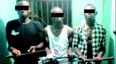 Three Notorious Robbers Arrested in Enugu For Terrorising Motocyclist